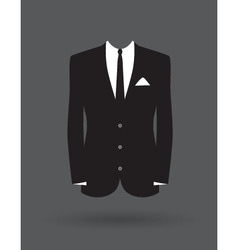 suit vector image