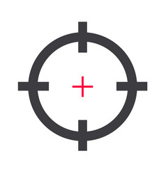 target aim or rifle or gun shot hunt for shooting vector image