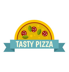 tasty pizza label icon isolated vector image