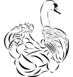 tattoo swan vector image