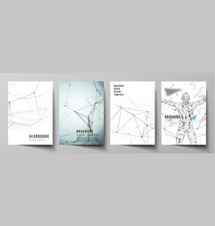 The layout of a4 format cover mockups vector