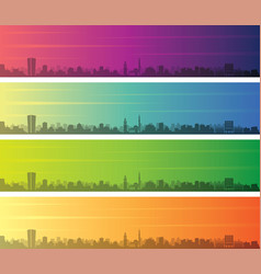 tirana multiple color gradient skyline banner vector image