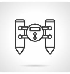 Water robot black line design icon vector