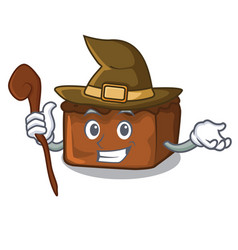 Witch brownies mascot cartoon style vector