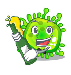 with beer virus cells bacteria microbe isolated vector image