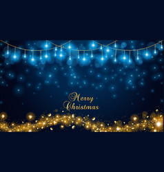 elegant christmas lights vector image