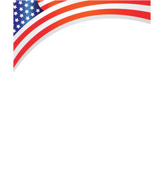 frame with usa flag vector image vector image