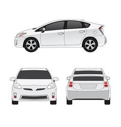 Medium size city car vector image