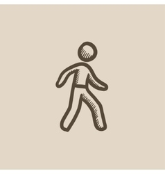 Pedestrianism sketch icon vector