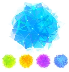 Bright triangles stains set vector image