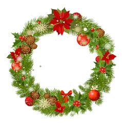 christmas garland frame vector image