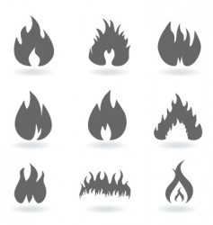 flames vector image vector image