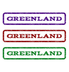greenland watermark stamp vector image
