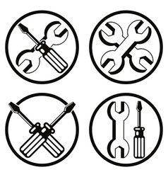 Repair icon set vector image vector image