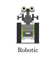 color of the robot vector image vector image