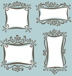 cute girly frames vector image vector image