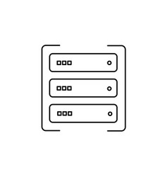 data server icon vector image