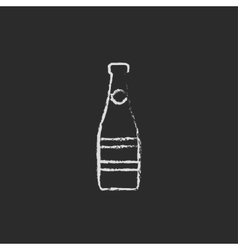 Glass bottle icon drawn in chalk vector image vector image