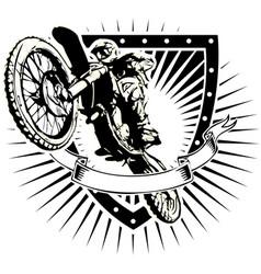 motorcross shield vector image