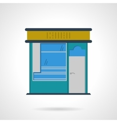 Storefronts flat color icon News stall vector image