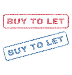 buy to let textile stamps vector image vector image