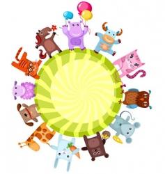 cute animals vector image vector image
