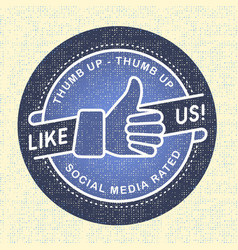 Like us Icon icon social networks vector image vector image