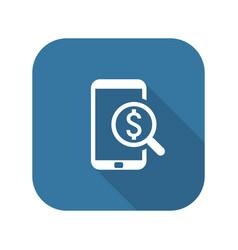 M-commerce icon business concept flat design vector