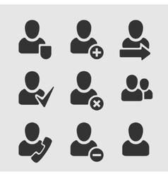 Set of Symbols User vector image