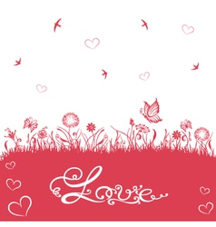 valentines day wedding silhouettes vector image vector image