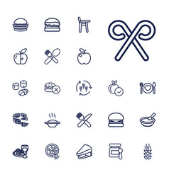 22 eat icons vector
