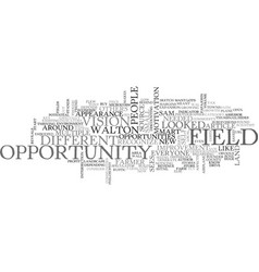 A field of multiple opportunity text word cloud vector