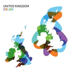 Abstract map united kingdom isolated on white vector