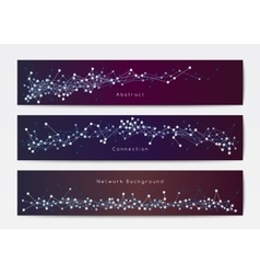 Abstract network banner templates vector