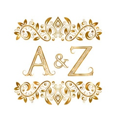 AZ vintage initials logo symbol Letters A Z vector