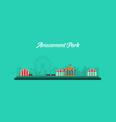 background amusement park and carnival vector image vector image