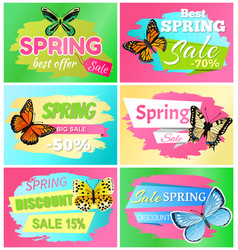 Best spring big sale banners vector