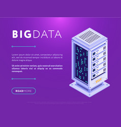 big data center base vector image