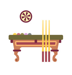 billiard table flat icon vector image