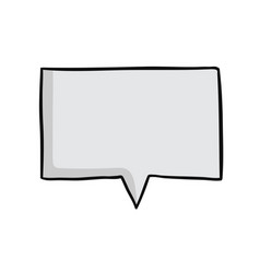 Blank speech bubble hand drawn vector