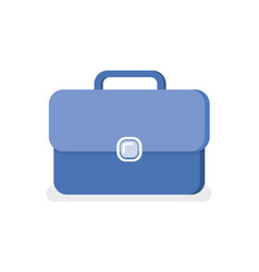 blue business briefcase isolated portfolio vector image