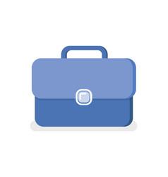 Blue business briefcase isolated portfolio vector