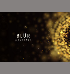 blur abstract dark background golden burst vector image
