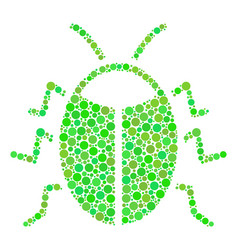 Bug collage of circles vector