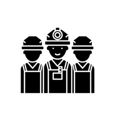 Builders black icon sign on isolated vector