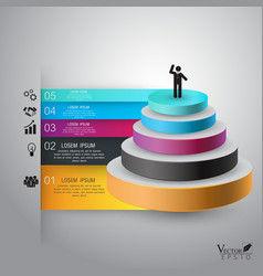 Business Infographics pyramid can be used for vector