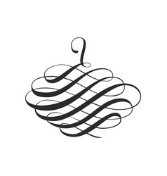calligraphic swirl design element and page vector image