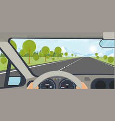 Car inside view vector