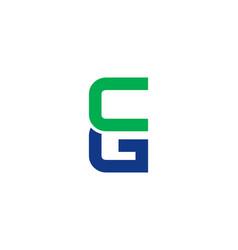 Cg letter logo vector