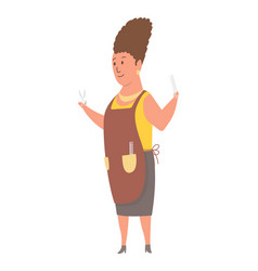 character hairdresser profession woman worker vector image